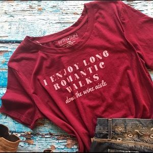 Burgundy Graphic Tee